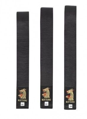 Matsuru 0220 budoband Satijn Zwart