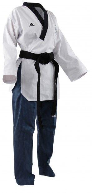 adidas Poomsae Taekwondopak Dames Wit/Licht Blauw ADITPAF01