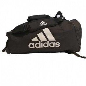 adidas Training Sporttas Polyester 2 in 1 Zwart/Wit