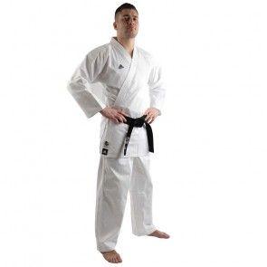 adidas Karatepak K220KF Kumite Fighter Wit/Blauw ADIK220KF-10600