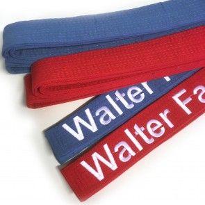 Matsuru geborduurde karate wedstrijdbanden