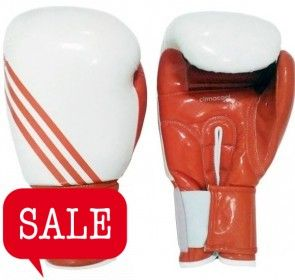 adidas Boxfit Climacool Bokshandschoen Wit/Oranje -12oz