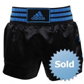 adidasThaiboksshort Zwart/Blauw